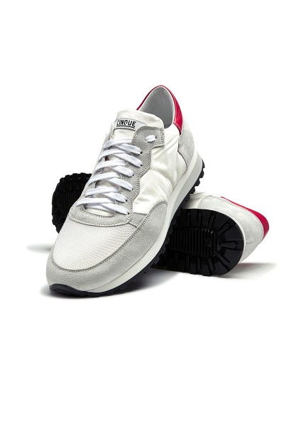 CINQUE Running Sneaker weiss/offwhite/rot CI-51821-10-19-40 03